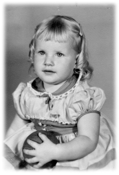 Carla Dionne - Site Author, age 3                   Click picture for current photo
